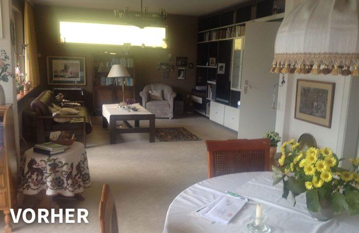 Wohnzimmer vorher – Ferienwohnung